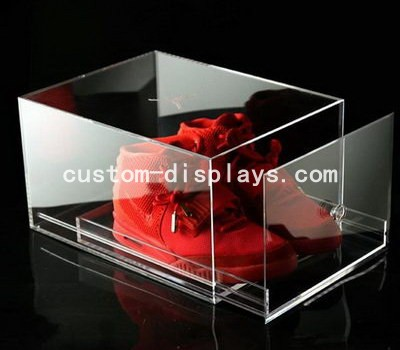 Clear acrylic shoe box CAB-002