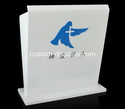 White acrylic podium pulpit lectern CAF-004