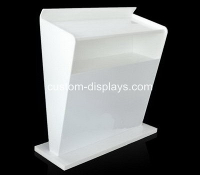 White acrylic conference lectern podium designs CAF-006