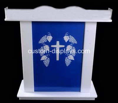 White acrylic smart church lectern podium rostrum CAF-009