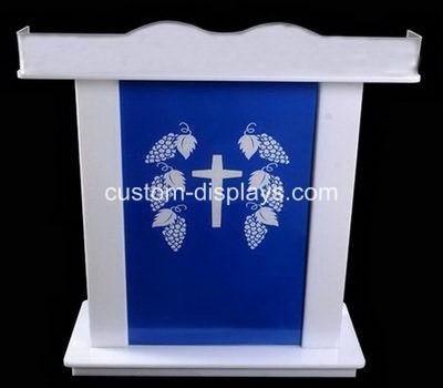 White acrylic smart church lectern podium rostrum CAF-009