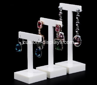 White acrylic earring stand CJD-003