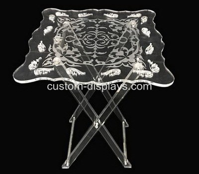 Clear folding table CAF-014