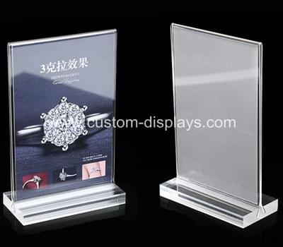 Acrylic tabletop sign holders CAS-034