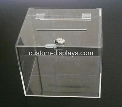 Acrylic ballot box with lock