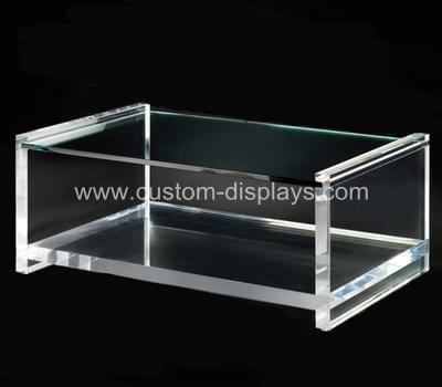 Clear acrylic coffee table