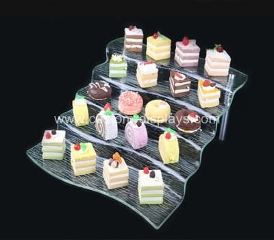Acrylic buffet display stands