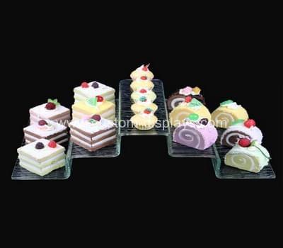 Acrylic buffet display risers