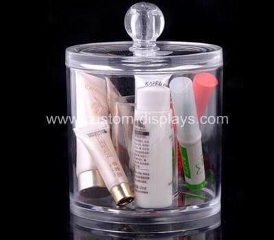 Round acrylic cosmetic box