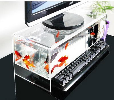 cms-006-1 Acrylic monitor stand with fish tank