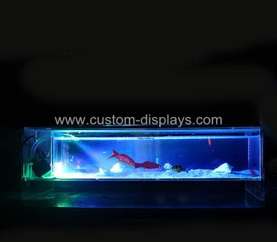 cms-006-2 Acrylic monitor stand with fish tank