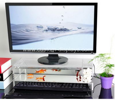 cms-006-3 Acrylic monitor stand with fish tank