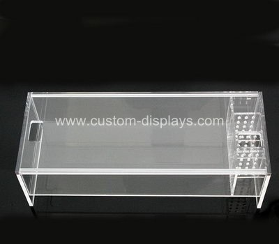 Acrylic monitor stand with fish tank