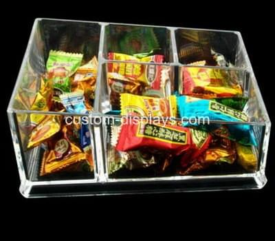 Clear candy tray with divider