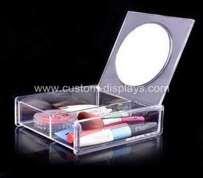 Acrylic cosmetic box with mirror