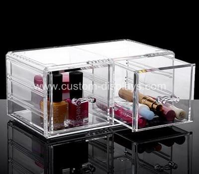 Clear makeup drawers