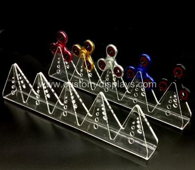Clear acrylic finger spinner display stand