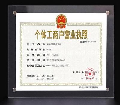 Clear A4 certificate frames