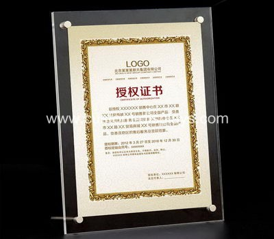 A4 acrylic certificate frames