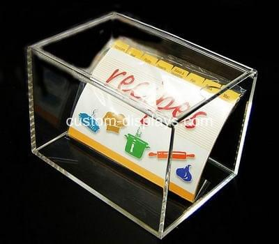Acrylic recipe box