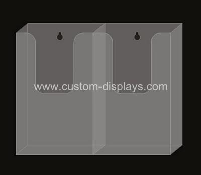 Wall mount acrylic brochure holders