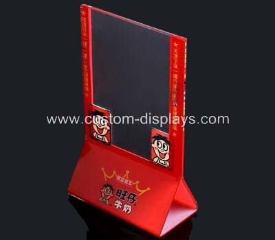 Color printed acrylic sign holder