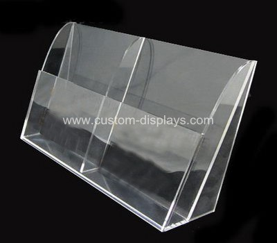 Clear plastic brochure holders