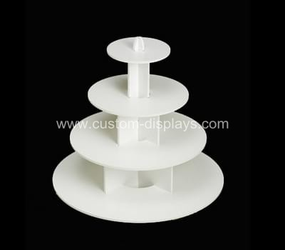 4 tier white cupcake stand