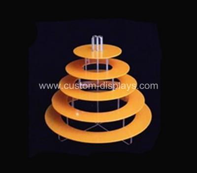 5 tier orange cupcake stand