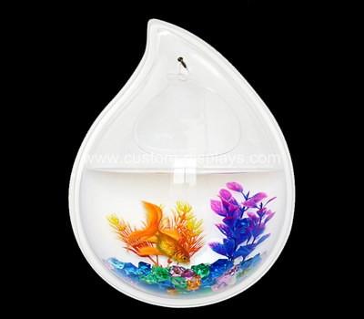 Water-drop shaped wall fish tank
