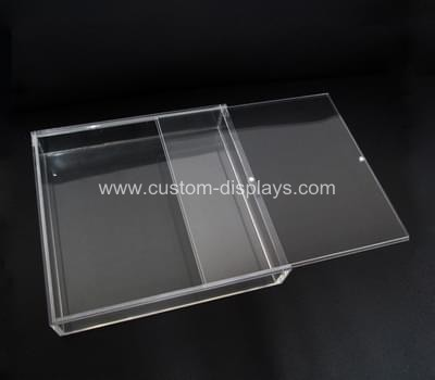 Acrylic box with sliding magnet lid