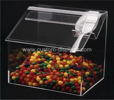 Acrylic candy bins with scoop