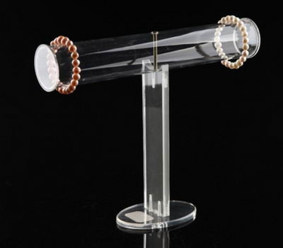 Clear Acrylic Round T-Bar Bracelet Display