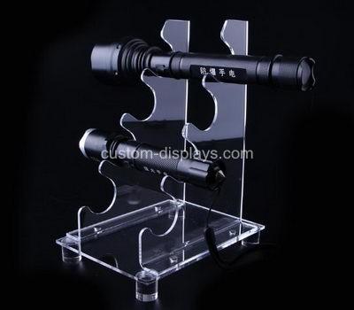Clear flashlight display stand