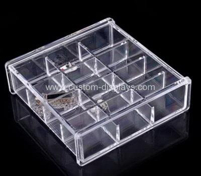 Clear plastic box with dividers