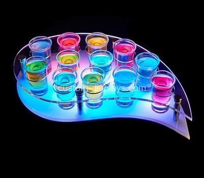 LED light shot glass holder tray
