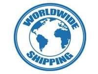 worldwide shipping acrylic display