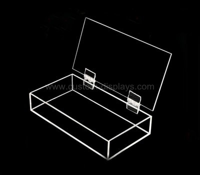 Hinged acrylic boxes