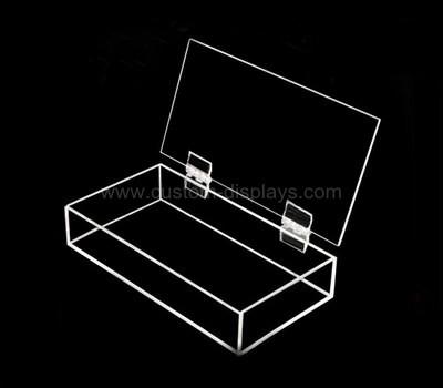 Hinged acrylic boxes