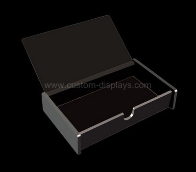 Black acrylic boxes with lids