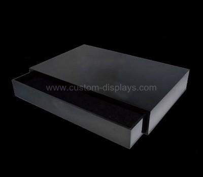 Black acrylic drawers