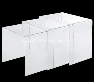Perspex nest of tables