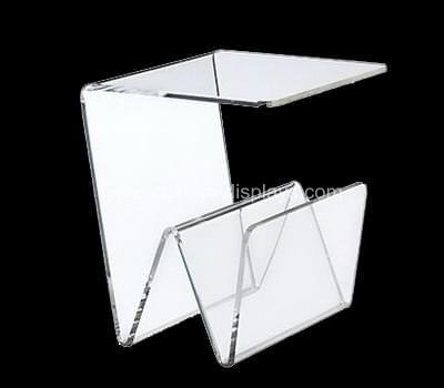 Acrylic magazine rack table
