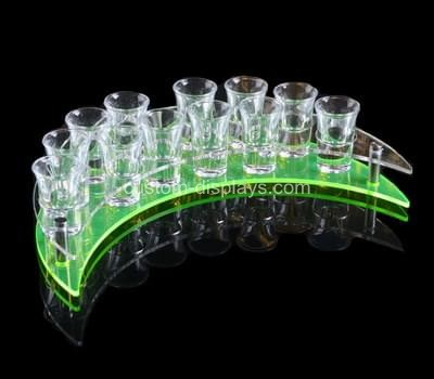 Meniscus shaped shot glass holder