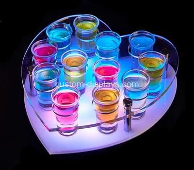 Heart LED light shot glass holder
