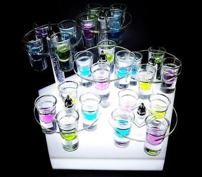 LED shot glass holder