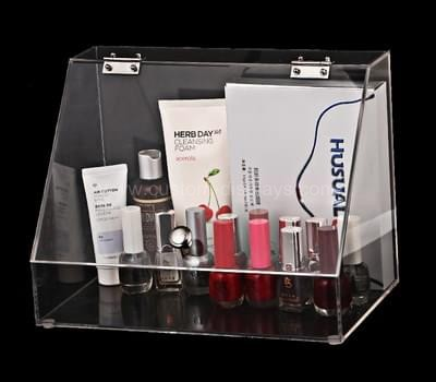 CAB-078-1 Clear acrylic box with hinged lid