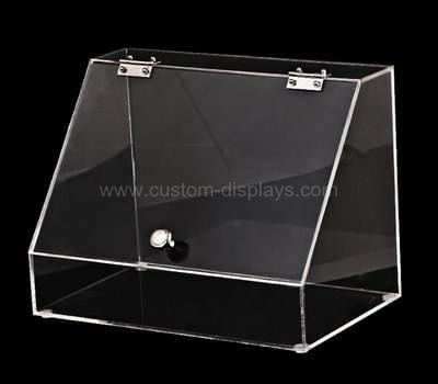 Clear acrylic box with hinged lid