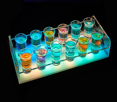 LED light shot glasses tray