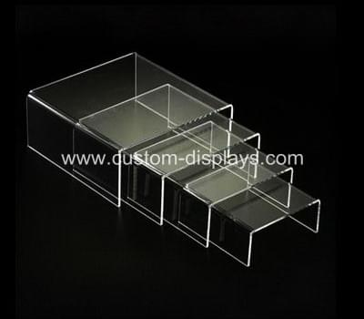 Clear acrylic jewelry display riser stand